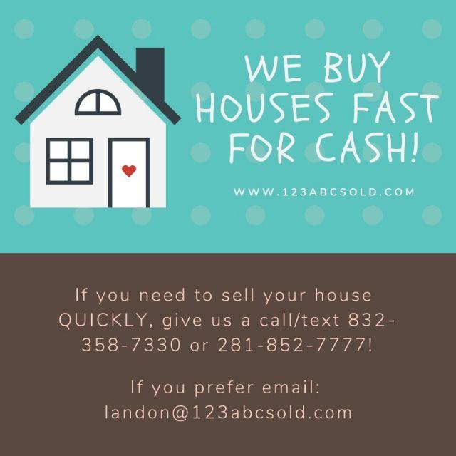 We Buy Houses! Contact US!