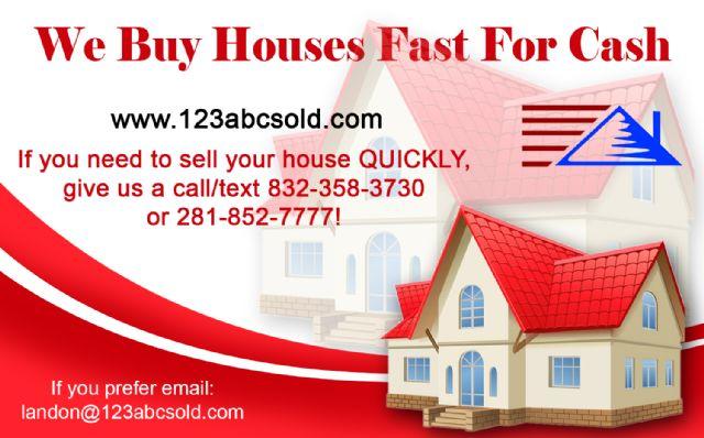 We Buy Houses FAST for Cash! (Hablamos español)