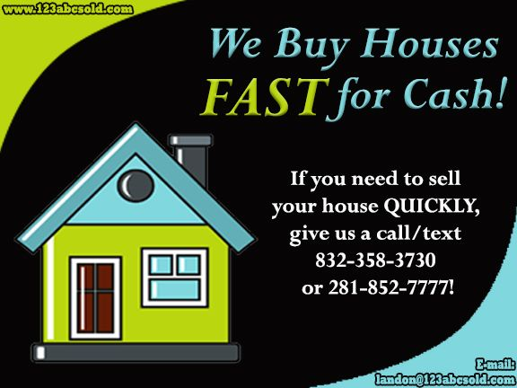 We Pay Fast Cash For Your House!