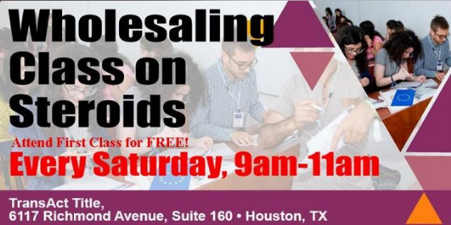 WHOLESALING CLASS ON STEROIDS! FIRST CLASS isFREE!