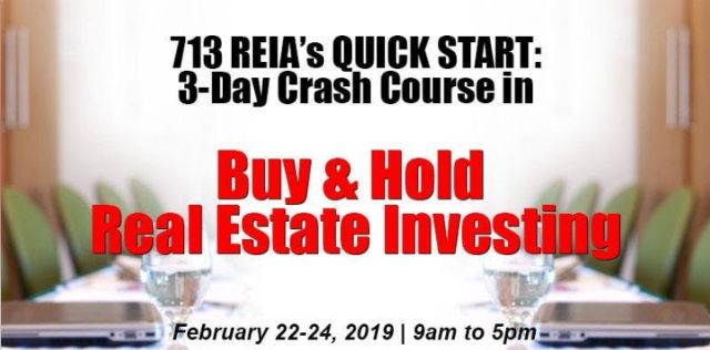 3-Day Crash Course in Buy & Hold RE Investment