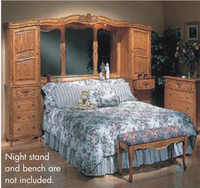 OAKWOOD INTERIORS VERSAILLES SOLID OAK  QUEEN ONLY