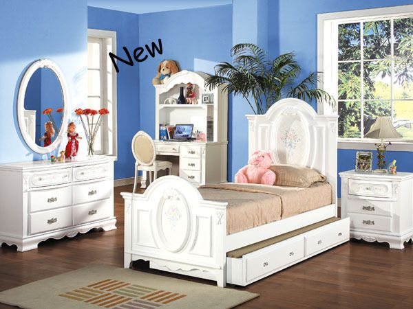 GIRLS BEDROOM SET - DESK IS SOLD SEPARATELY FREE D