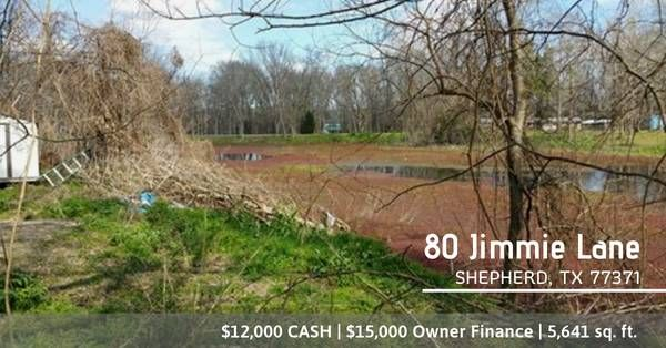 LOT available for Sale in Shepherd, TX