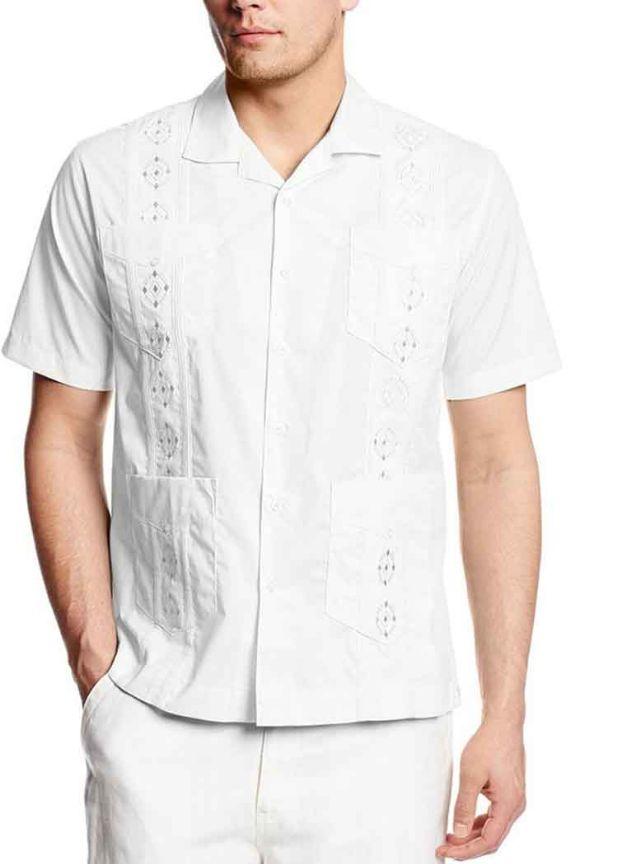 Cubaverahavanera Embroidered Guayabera Shirts Houston Texas Mens