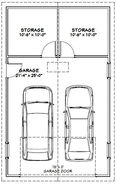 22x36 2-car garage -- pdf floorplan