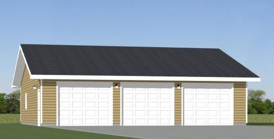 24x30 2 car garage pdf floorplan 720 sq ft saint for 24x30 garage plans