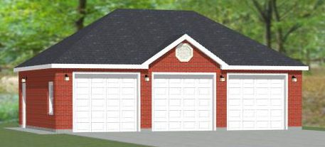 22x24 2 car garage 528 sq ft pdf floor plan atlanta for 40x36 garage