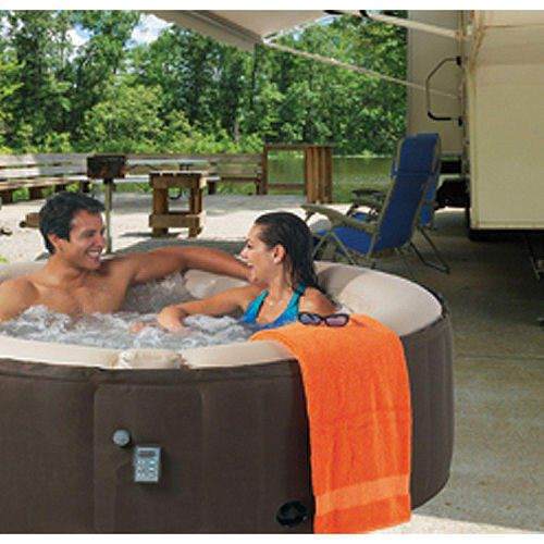 Inflatable 4 Person Spa, 130 Air Jets