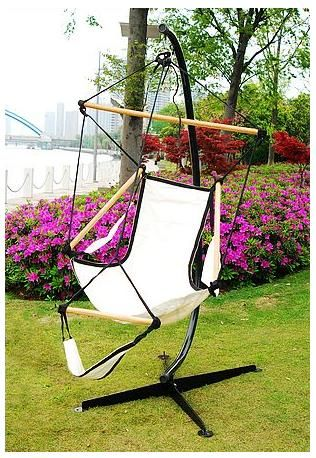 C Steel Frame Hammock Swing Stand & Cotton Chair