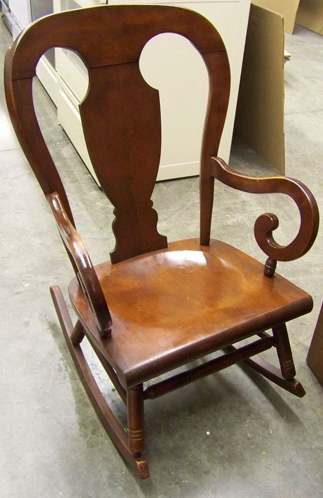 Tell City Mahogany Rocking Chair Decatur Illinois