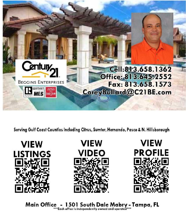 "Use your phone on the ""QR"" code for FL Real Estate"