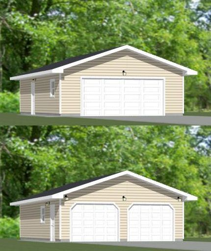 24x36 2 car garage pdf floor plan 864 sq ft for 2 car garage sq ft