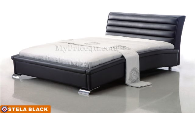 Stela Black Platform Bed by American Eagle