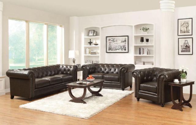 ROY COLLECTION LEATHER SOFA 504551 BY COASTER