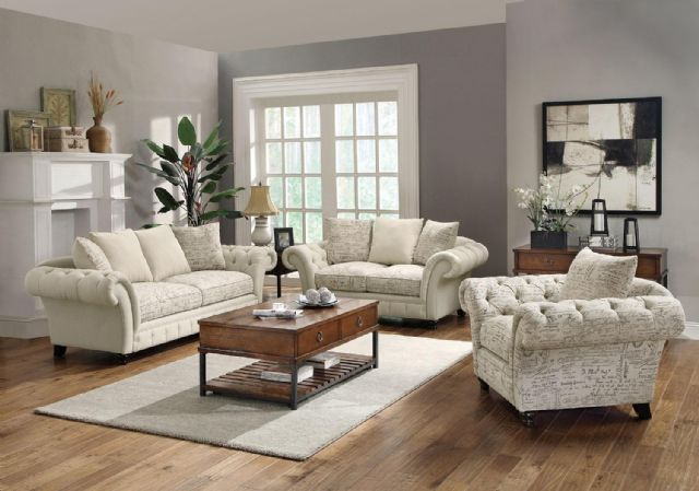 COASTER WILLOW FRENCH LAUNDRY STYLE SOFA 503761