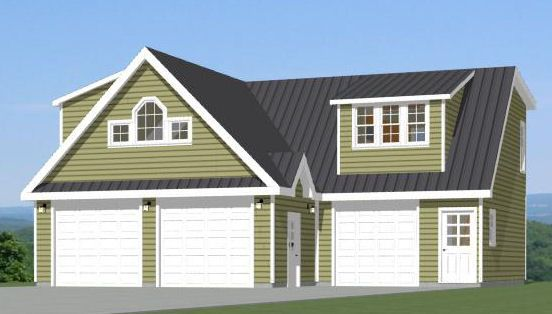 24x28 2 car garage 1 298 sq ft pdf floor plan For40x36 Garage