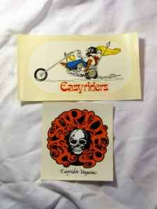 Early style Easyrider magazine decals