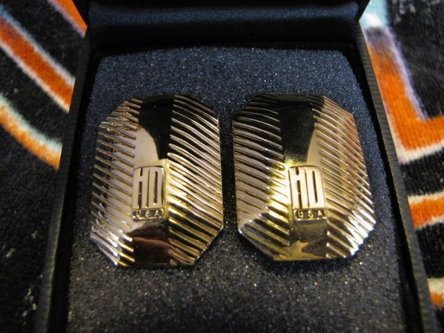 Harley Davidson old style design  post  earrings