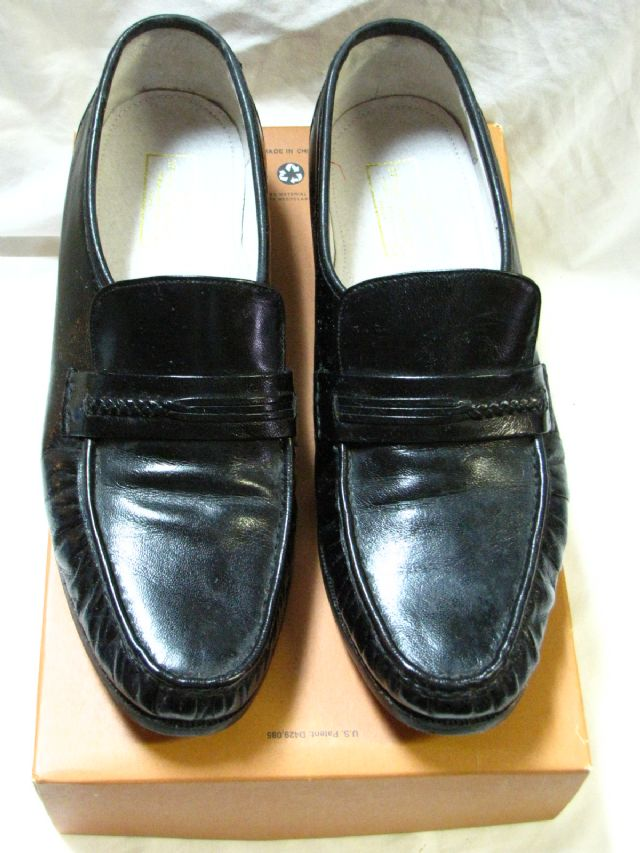 Mens shoes black loafer style size 14D