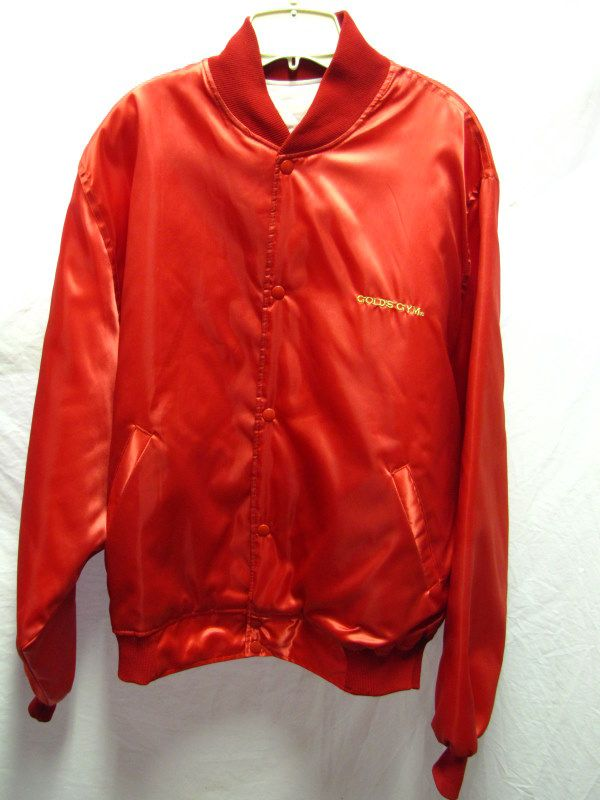 Golds gym red nylon jacket