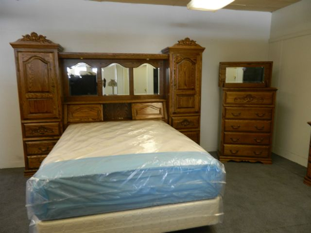bebe solid oak bedroom set pier wall unit boise idaho furniture for