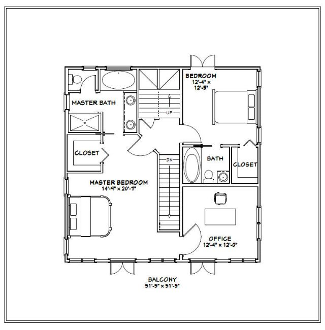 32x32 6 bedroom house 2 934 sq ft pdf plan arlington for 32x32 house plans