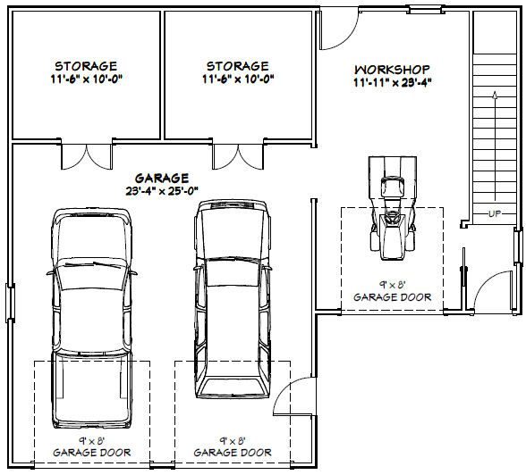 40x36 2-car garage-- pdf floor plan
