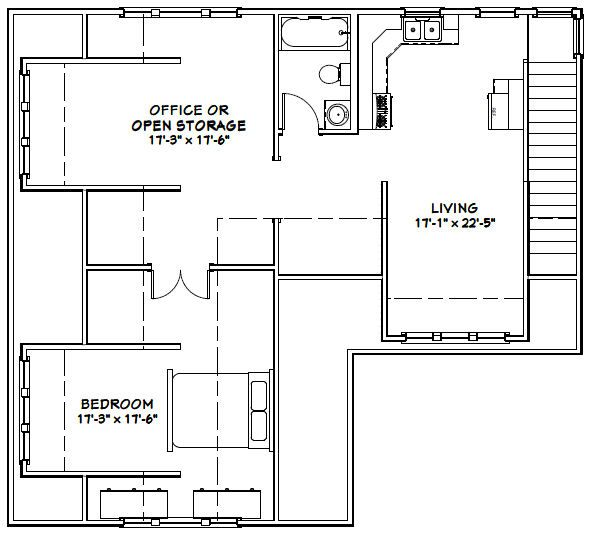 40x36 2-car garage-- pdf floor plan  misc for sale