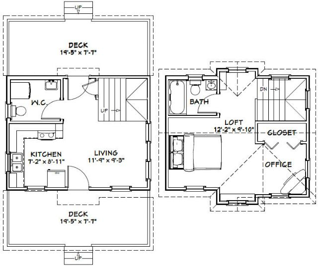 20x16 tiny house 599 sq ft pdf floor plan spokane for Tiny house floor plans pdf
