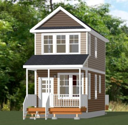 20x16 Tiny House 599 sq ft PDF Floor Plan SPOKANE WASHINGTON