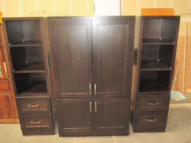 Beautiful Espresso 3 piece Entertainment Center
