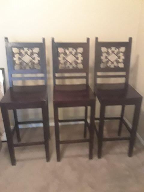 Wooden bar stools..(2)
