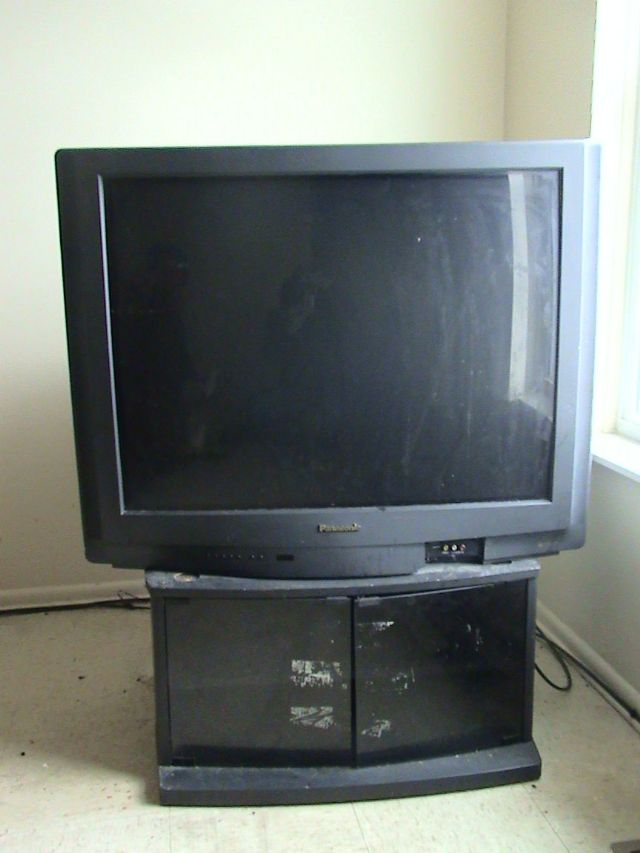 "Panasonic 36"" Television and Stand"