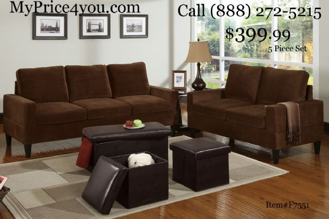 Vogue Beige Reversible Chaise Sectional 05913B