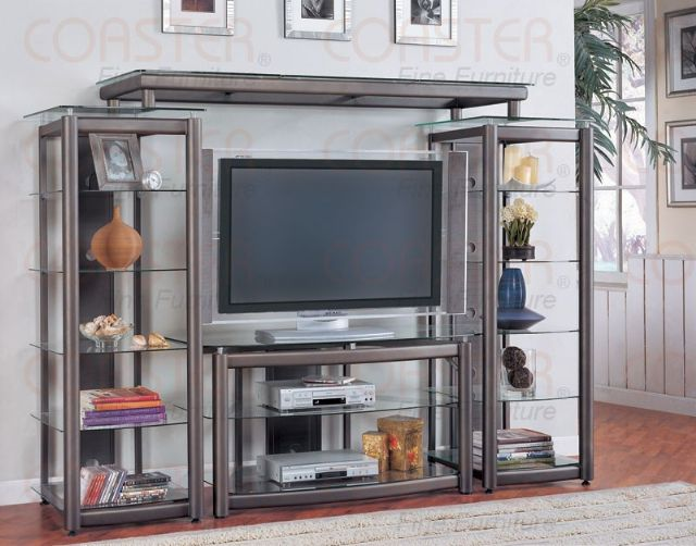 TV stand Dark gray 700151 by Coaster