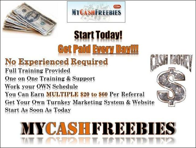 Cash Paid Everyday. . .Simply Placing Ads Online