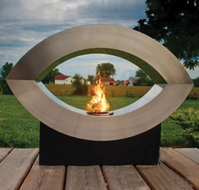 Ellipse of Fire Ethanol Bio-fuel Fireplace