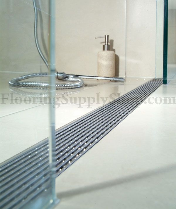 QuARTz by Aco Linear Shower Drain - Linear Wedge