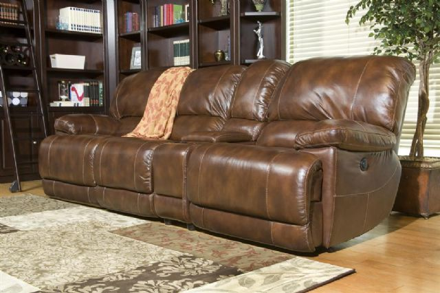 POWER MOTION RECLINING LEATHER SOFA