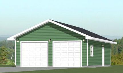 24x36 2 car garage 1 344 sq ft pdf floor plan for 40x36 garage