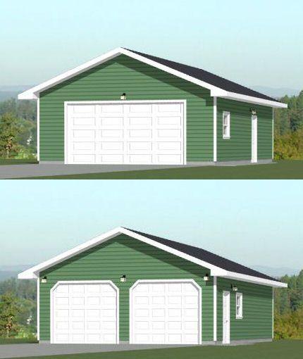 24x36 2 car garage 864 sq ft pdf floor plan tulsa for 24x36 garage plans