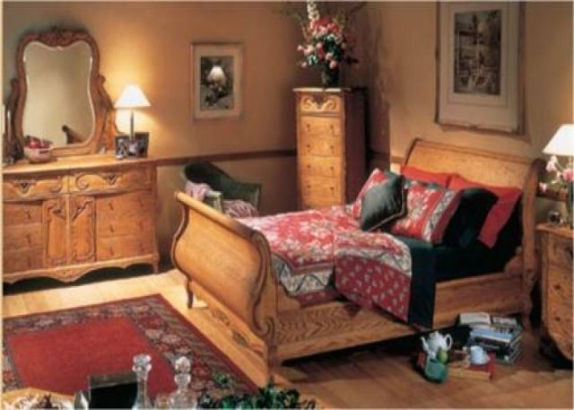 Solid Oak, Oak Wood Interiors Bedroom Set