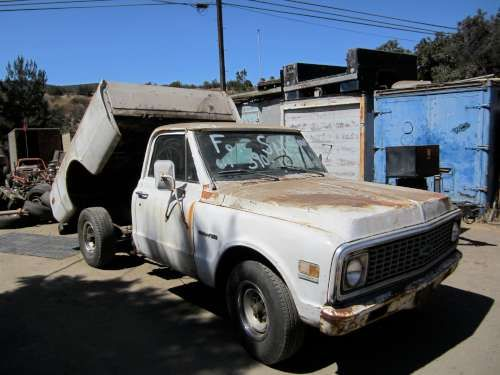 For Sale: 1971 Chevy C20 with Dump bed