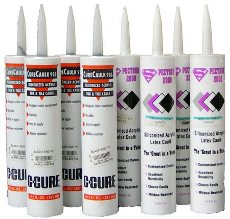 C-Cure Sanded and Non Sanded Colorant Caulking