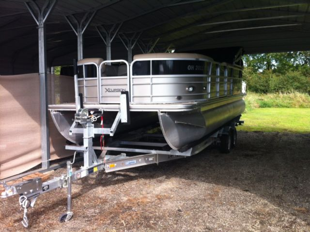 2012 Xcursion X21C Pontoon boat and trailer