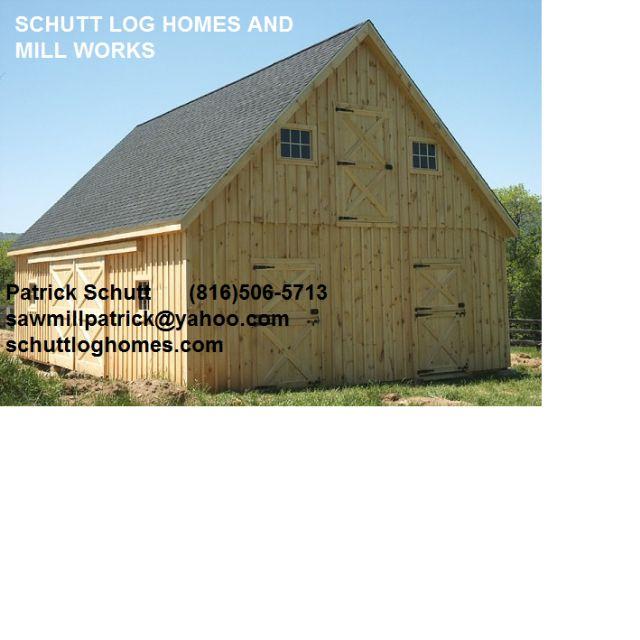 Timber Pole Barn Kit