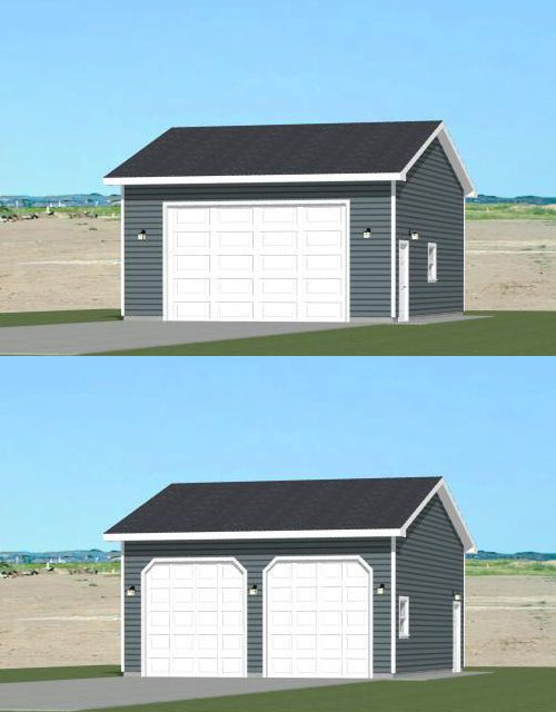 24x30 2 car garage pdf floor plan 720 sq ft new for Garage orleans auto