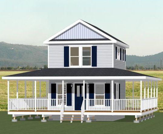 16x20 Tiny House 569 sq ft PDF Floor Plan ALBANY GEORGIA