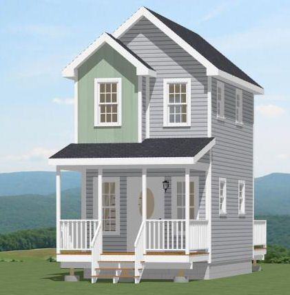 12x16 Tiny House Pdf Floor Plan 367 Sq Ft Hilton